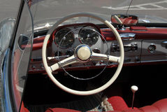 Vintage car on exhibition in golf country club stock photography