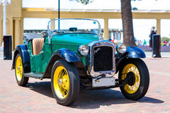 Vintage car exposition on the open air. American `Austin Bantam 1930` coupe. Picton, New Zealand. Stock Photo