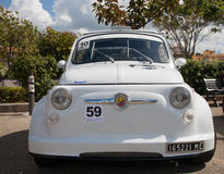 Vintage car Fiat 500 Abarth. Photographed during a public exhibition of vintage cars Stock Photos