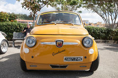 Vintage car Fiat 500 Abarth. Photographed during a public exhibition of vintage cars Stock Image
