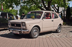 Vintage car Fiat 127 parked Royalty Free Stock Image