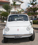 Vintage car Fiat 500. Photographed during a public exhibition of vintage cars Royalty Free Stock Images