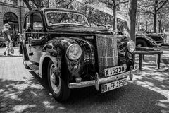 Vintage car Ford Prefect (E493A), a British cars which was produced by Ford UK. BERLIN - JUNE 05, 2016: Vintage car Ford Prefect (E493A), a British cars which Royalty Free Stock Image