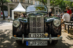 Vintage car Ford Prefect (E493A), a British cars which was produced by Ford UK. BERLIN - JUNE 05, 2016: Vintage car Ford Prefect (E493A), a British cars which Stock Photo