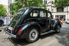 Vintage car Ford Prefect E493A, a British cars which was produced by Ford UK. BERLIN - JUNE 05, 2016: Vintage car Ford Prefect E493A, a British cars which was Stock Images