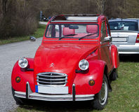Vintage car, French Citroen 2CV red Royalty Free Stock Images
