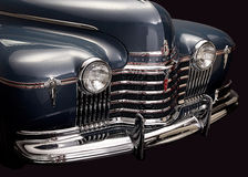 Vintage car front. shiny chrome and headlights. Stock Photography