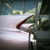 Vintage Car in a garage Stock Image