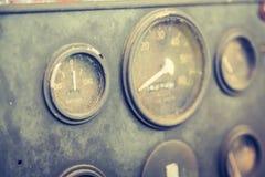 Vintage car gauge meter Stock Photos