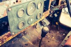 Vintage car gauge meter Stock Photo