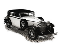 Vintage car. Vintage gravure style effect Royalty Free Stock Images