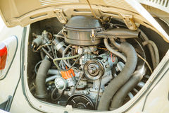 Vintage car gray old engine Royalty Free Stock Photography