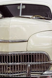 Vintage car grill. Chromed grill vintage carfrom 40-50s Stock Image