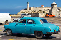 Vintage car in Havana Royalty Free Stock Photo