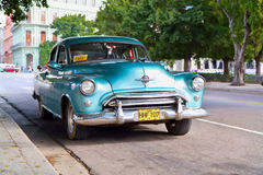 Vintage car in Havana, Cuba. Royalty Free Stock Photos
