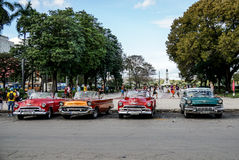 Vintage car in Havana Stock Images