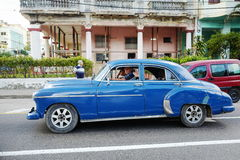 Vintage car in Havana, Cuba Royalty Free Stock Image