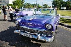 Vintage car in Havana, Cuba Stock Photos