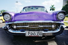 Vintage car in Havana, Cuba Stock Images