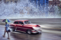 Vintage car,Havana Fantasy Royalty Free Stock Photography