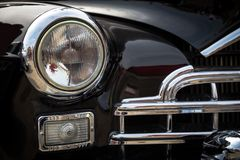 Vintage car headlight Royalty Free Stock Image