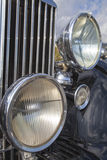 Vintage car headlights Stock Photography