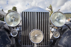 Vintage car headlights Royalty Free Stock Images