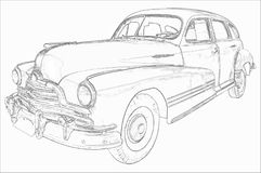 Vintage car illustration Royalty Free Stock Photos