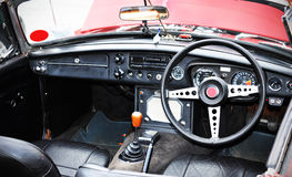 Vintage car interior Royalty Free Stock Photo