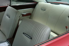 Vintage car interior. Inside of a vintage car, immaculate original or restored condition Stock Photo