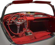 Vintage car, interior Stock Photography