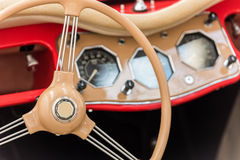 Vintage Car Interior Stock Photography