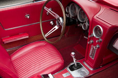Vintage car interiors Royalty Free Stock Photography