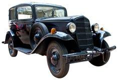 Vintage car isolated on white Stock Photos