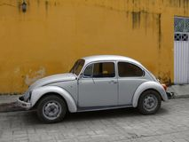 Vintage car in Izamal royalty free stock images