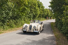 Vintage car Jaguar XK 140 DHC Royalty Free Stock Photography