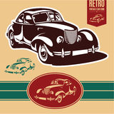 Vintage car label Royalty Free Stock Photography