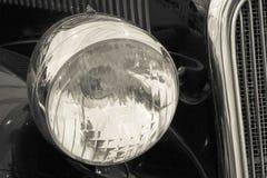 Vintage car lamps Stock Photo