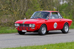 Vintage car Lancia Fulvia 1.3S from 1972 Stock Photos