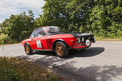 Vintage car Lancia Fulvia 1.3 Stock Images
