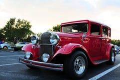 Vintage car left-front-side view Stock Images