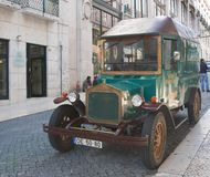 Vintage car. Lisbon. Portugal Royalty Free Stock Photography