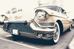 Vintage car in lot Royalty Free Stock Photo