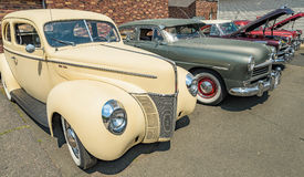 Vintage car lot Royalty Free Stock Photography