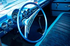 Vintage car luxury interior Royalty Free Stock Photo