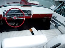 Vintage car luxury interior Royalty Free Stock Image