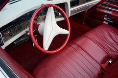 Vintage car luxury interior Stock Photo