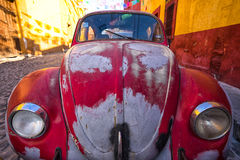 Vintage car in Mexico Royalty Free Stock Image