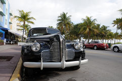 Vintage Car in Miami Beach Royalty Free Stock Photos