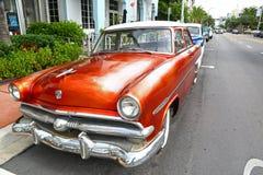 Vintage car in Miami Beach Stock Photo